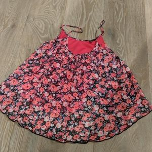 Express floral flowing tank top